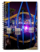 A Rollercoaster At A Theme Park In Usa Spiral Notebook