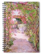 A Rose Arbor And Old Well, Venice Spiral Notebook