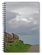 A Row Of Benches In Gloucester Ma Spiral Notebook