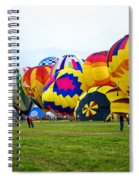 A Row Of Hot Air Balloons Left Side Spiral Notebook