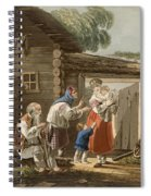 A Russian Peasant Family, 1823 Spiral Notebook