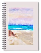 A Sand Filled Beach Spiral Notebook