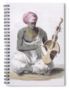 A Sarinda, Or Hindostan Type Violin Spiral Notebook