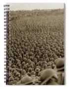 A Sea Of Helmets World War One 1918 Spiral Notebook