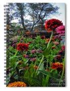 A Sea Of Zinnias 02 Spiral Notebook