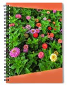 A Sea Of Zinnias 06 Spiral Notebook