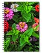 A Sea Of Zinnias 07 Spiral Notebook