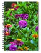 A Sea Of Zinnias 10 Spiral Notebook