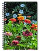 A Sea Of Zinnias 15 Spiral Notebook
