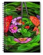 A Sea Of Zinnias 16 Spiral Notebook