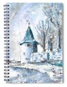 A Seagull In Winter In Lindau Spiral Notebook