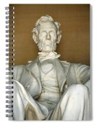 A Seated Abe Lincoln Spiral Notebook