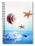 A Shell And Two Starfish Floating Spiral Notebook