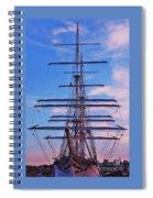 A Tall Ship At Sundown In Baltimore Spiral Notebook
