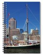 A Ship In Boston Harbor Spiral Notebook