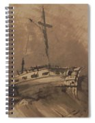 A Ship In Choppy Seas Spiral Notebook
