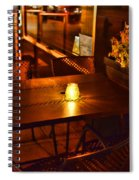 A Single Candle Burns. Spiral Notebook