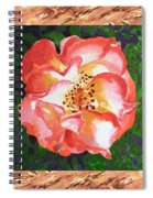 A Single Rose The Dancing Swirl  Spiral Notebook