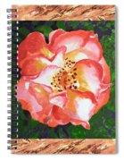 A Single Rose The Dancing Swirl  Spiral Notebook