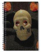 A Skull In The Dark Pop Art Spiral Notebook