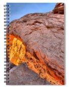 A Slice Of Orange Spiral Notebook