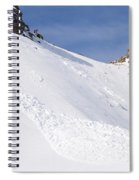 A Small Slab Avalanche With Two Guides Spiral Notebook