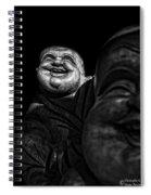 A Smile On The Shoulder - Bw Spiral Notebook