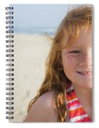 A Smiling Young Girl Enjoys A Sunny Spiral Notebook