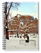 A Snow Day In Central Park Spiral Notebook