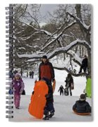 A Snow Day In The Park Spiral Notebook
