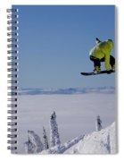 A Snowboarder Catches Air Off A Jump Spiral Notebook
