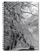 A Snowy Drive Through Chestnut Ridge Park Spiral Notebook