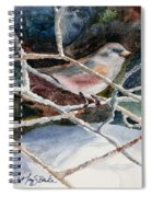 A Snowy Perch Spiral Notebook
