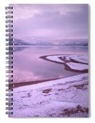 A Snowy Shore Spiral Notebook