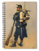 A Soldier IInfanterie Spiral Notebook