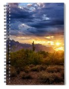 A Sonoran Desert Sunrise Spiral Notebook