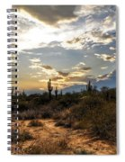 A Sonoran Desert Sunset  Spiral Notebook