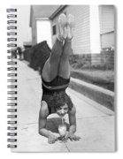 California Girl Imbibes Soda Upside Down Spiral Notebook
