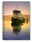 A Spring Evening At The Lake Spiral Notebook