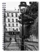 A Spring Walk In The City Bw Spiral Notebook