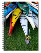 A Stack Of Kayaks Spiral Notebook