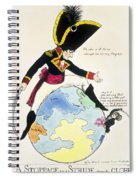 A Stoppage To A Stride Over The Globe, 1803 Litho Spiral Notebook