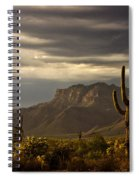 A Stormy Evening In The Superstitions  Spiral Notebook