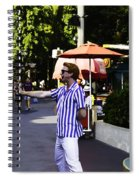 A Street Entertainer In The Hollywood Section Of The Universal Studios Spiral Notebook