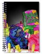 A Street Vendor's Mardi Gras In Plastic Wrap Spiral Notebook