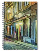 A Street With The Local Inn Spiral Notebook