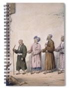 A String Of Blind Beggars, Cabul, 1843 Spiral Notebook