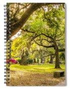 A Stroll In City Park Spiral Notebook