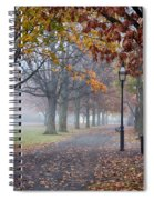 A Stroll In Salem Fog Spiral Notebook