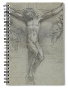 A Study Of Christ On The Cross With Two Spiral Notebook